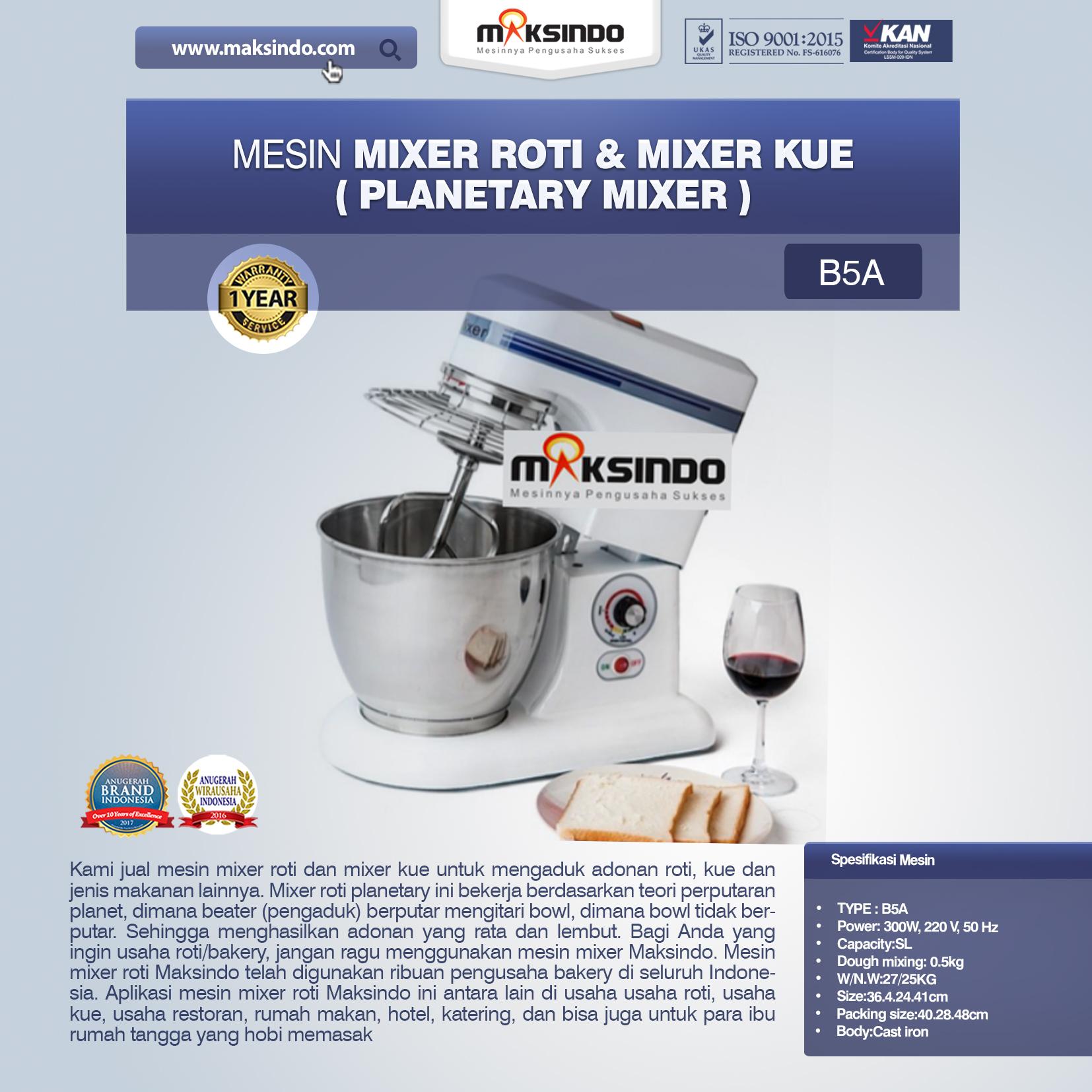 Mesin Mixer Roti dan Kue Model Planetary Terbaru
