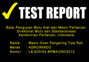TEST REPORT MESIN OVEN PENGERING
