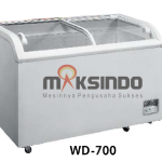 SLIDING CURVE CHEST FREEZER pusat mesin