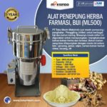 Mesin Penepung Herba, Farmasi (ML-100)