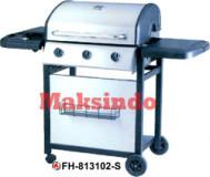 Mesin Barbeku Gas Barbeque With Side Burner