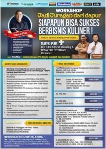 Workshop Jadi Juragan Dapur (Bisnis Kuliner) 5 Mei 2016