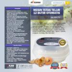 Mesin Tetas Telur 12 Butir Otomatis – AGR-TT12
