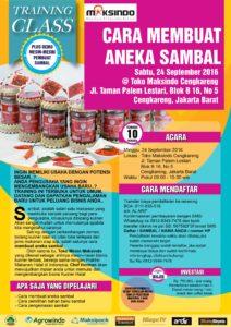 Training Usaha Aneka Sambal di Cengkareng, 24 September 2016