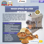Mixer Spiral 40 Liter (MKS-SP40)
