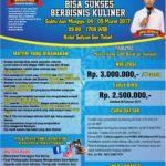 Workshop Jadi Juragan Dapur (Bisnis Kuliner) 4 Maret-5 Maret 2017