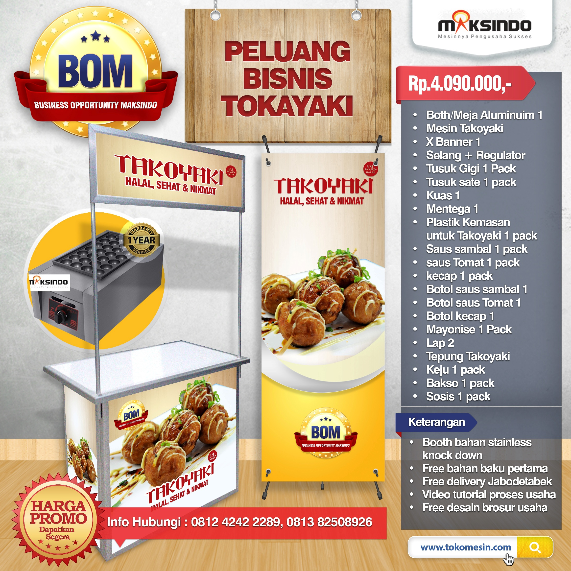 Paket Usaha Takoyaki Progam BOM