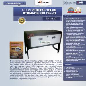 Mesin Penetas Telur Otomatis 200 Telur (EM-200AT)