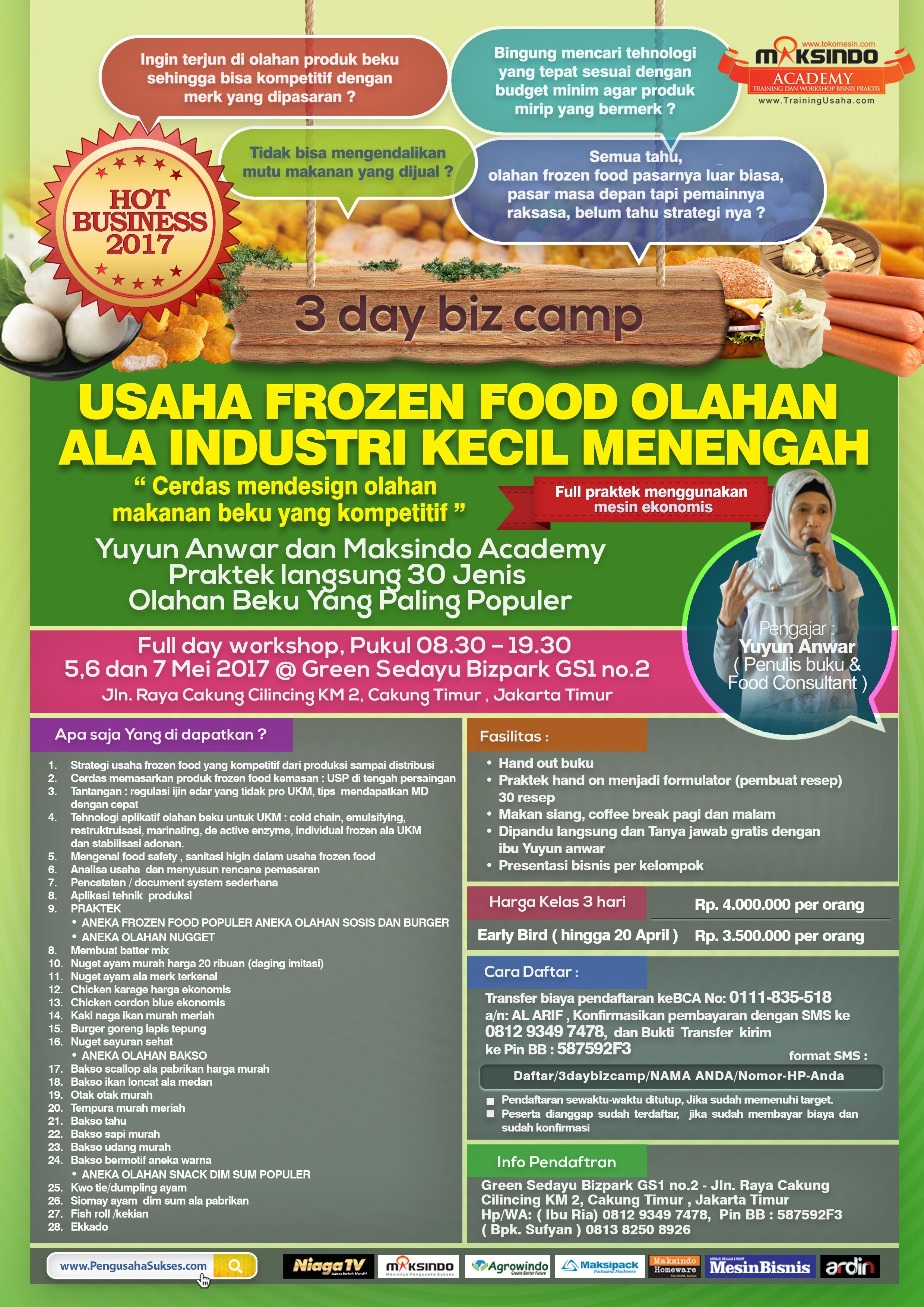Training Usaha Frozen Food 5 7 Mei 2017 Maksindo Jakarta