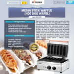 Mesin Stick Waffle (hot dog wafel)
