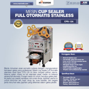 Mesin Cup Sealer Full Otomatis Stainless (CPS-12A)