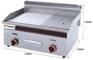 Pemanggang Griddle Flat-Grooved Gas (GG722)