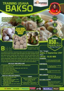 Training Usaha Bakso, 2 September 2017