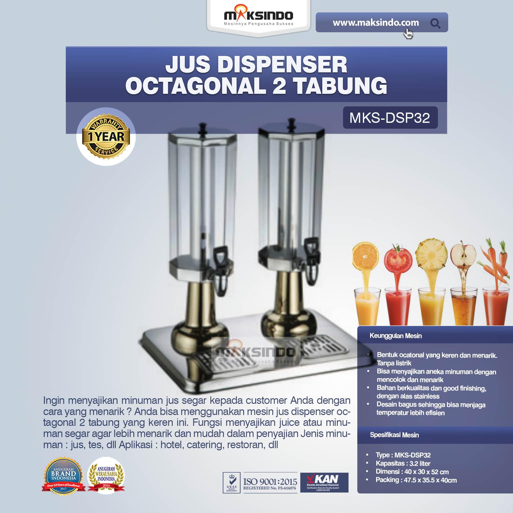 Jus Dispenser Octagonal 2 Tabung  (DSP32)