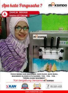 "Khaya Ice Cream : ""Saya Suka Pake Mesin Maksindo"""