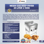 Gas Deep Fryer 25 Liter 1 Tank (G75)