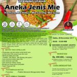 Training Usaha Aneka Jenis Mie, 25 November 2017