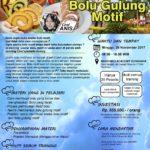 Training Usaha Bolu Gulung Motif, 26 November 2017