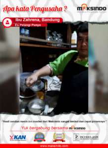 Es Pelangi Ponyo : Hasil Serutan Mesin Ice Crusher Maksindo Lembut dan Cepat