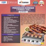 Pemanggang BBQ Stainless (gas) 4 Tungku