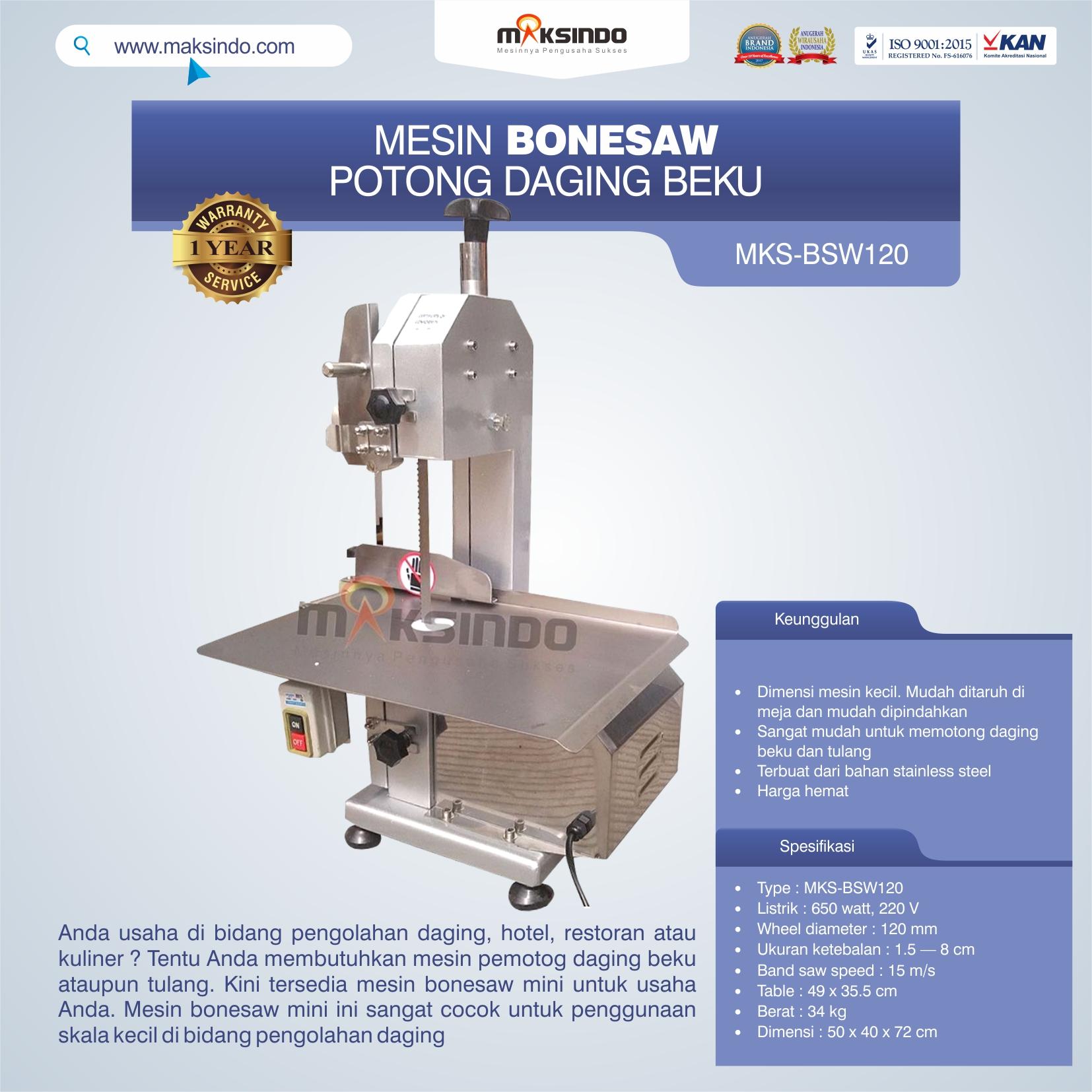 Bonesaw Pemotong Daging Beku (MKS-BSW120)