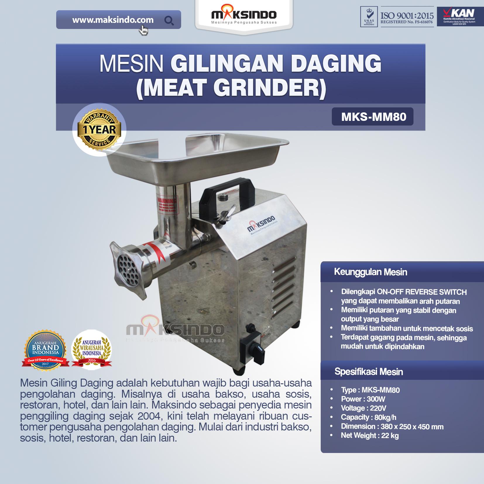 Mesin Meat Grinder MKS-MM80