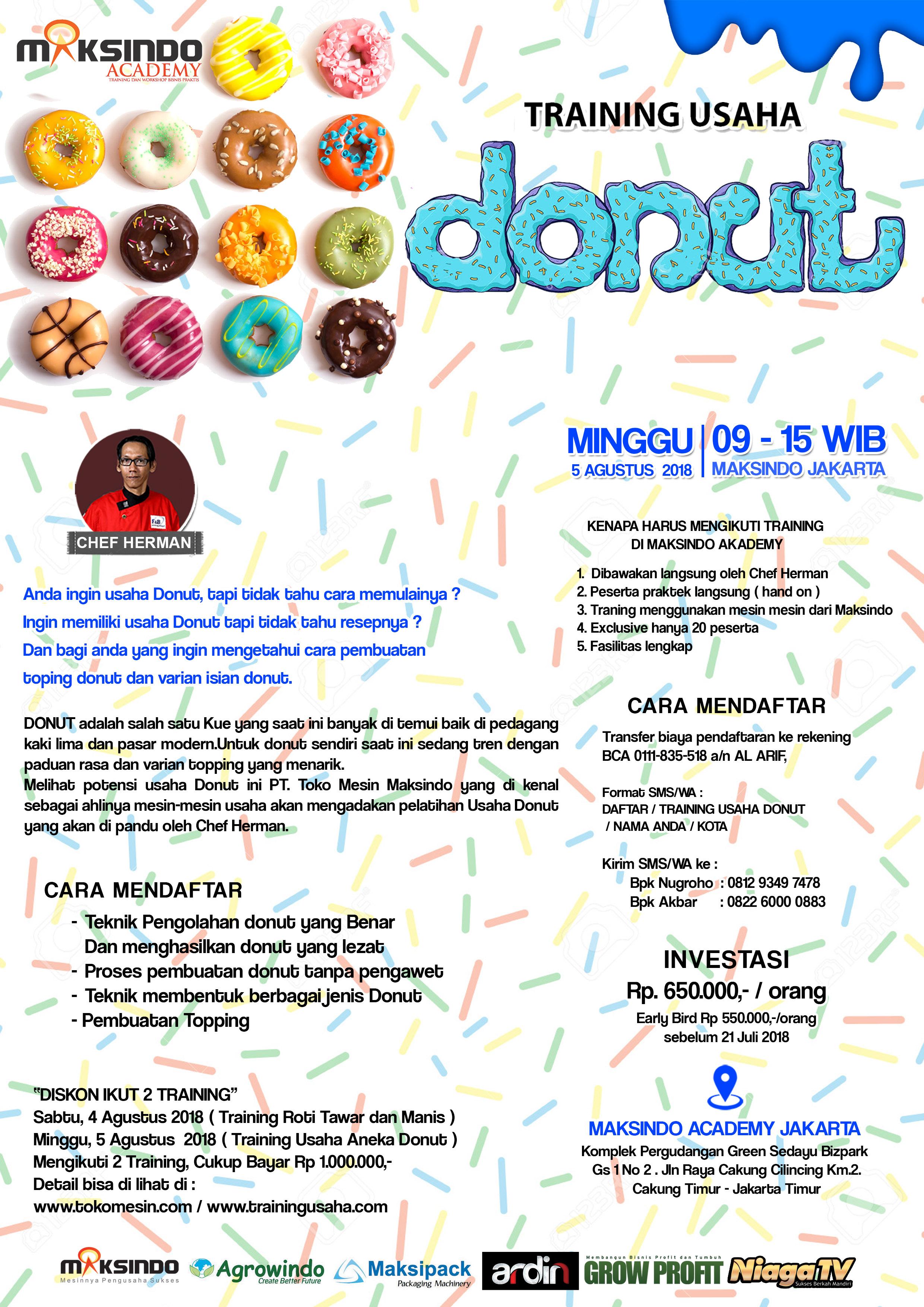 Training Usaha Donut, Minggu 5 Agustus 2018