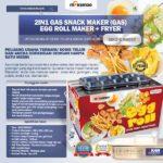 Mesin Egg Roll Gas 2in1 Plus Fryer ERG007 Maksindo
