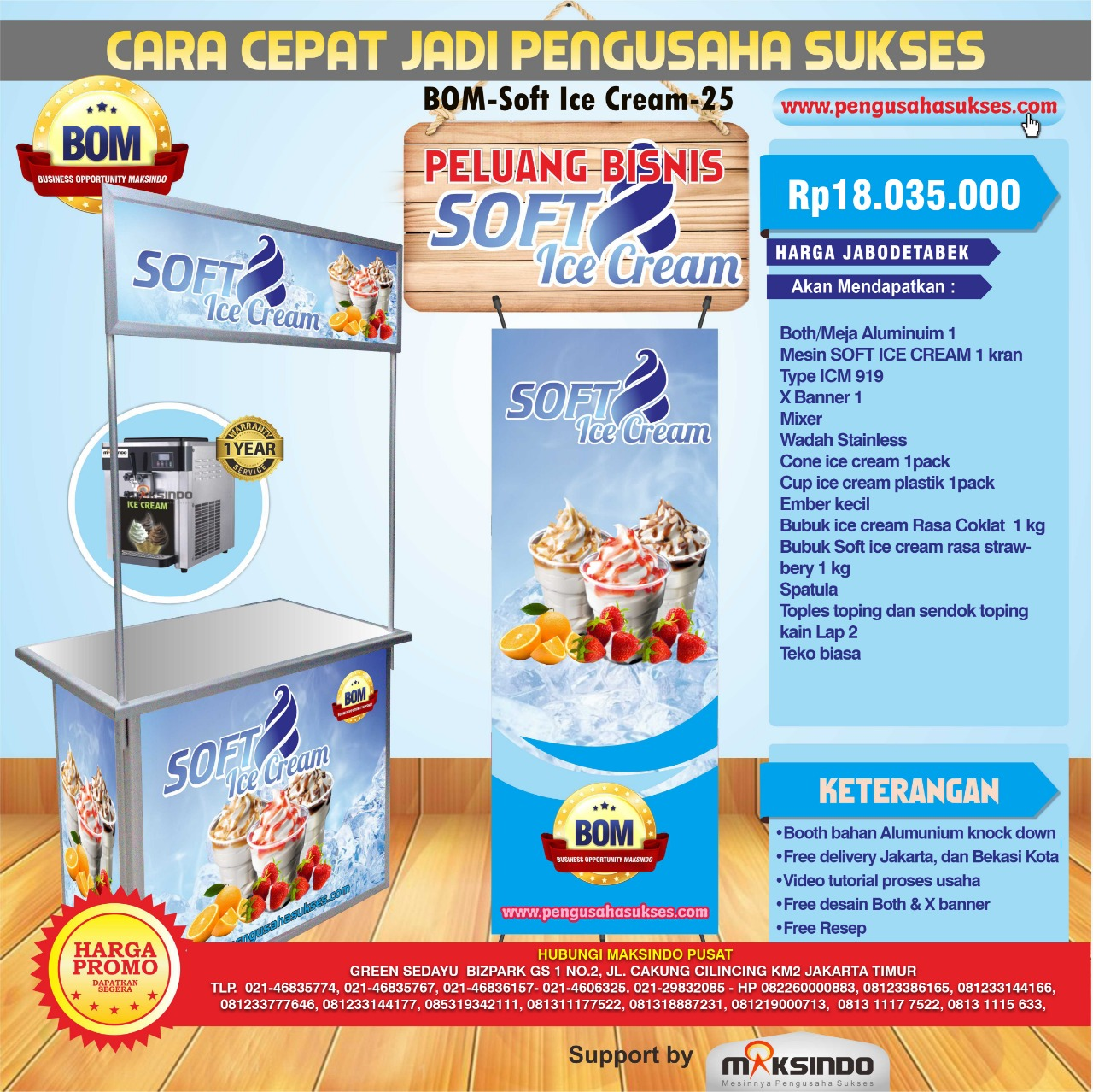 Paket Usaha Soft Ice Cream Program BOM