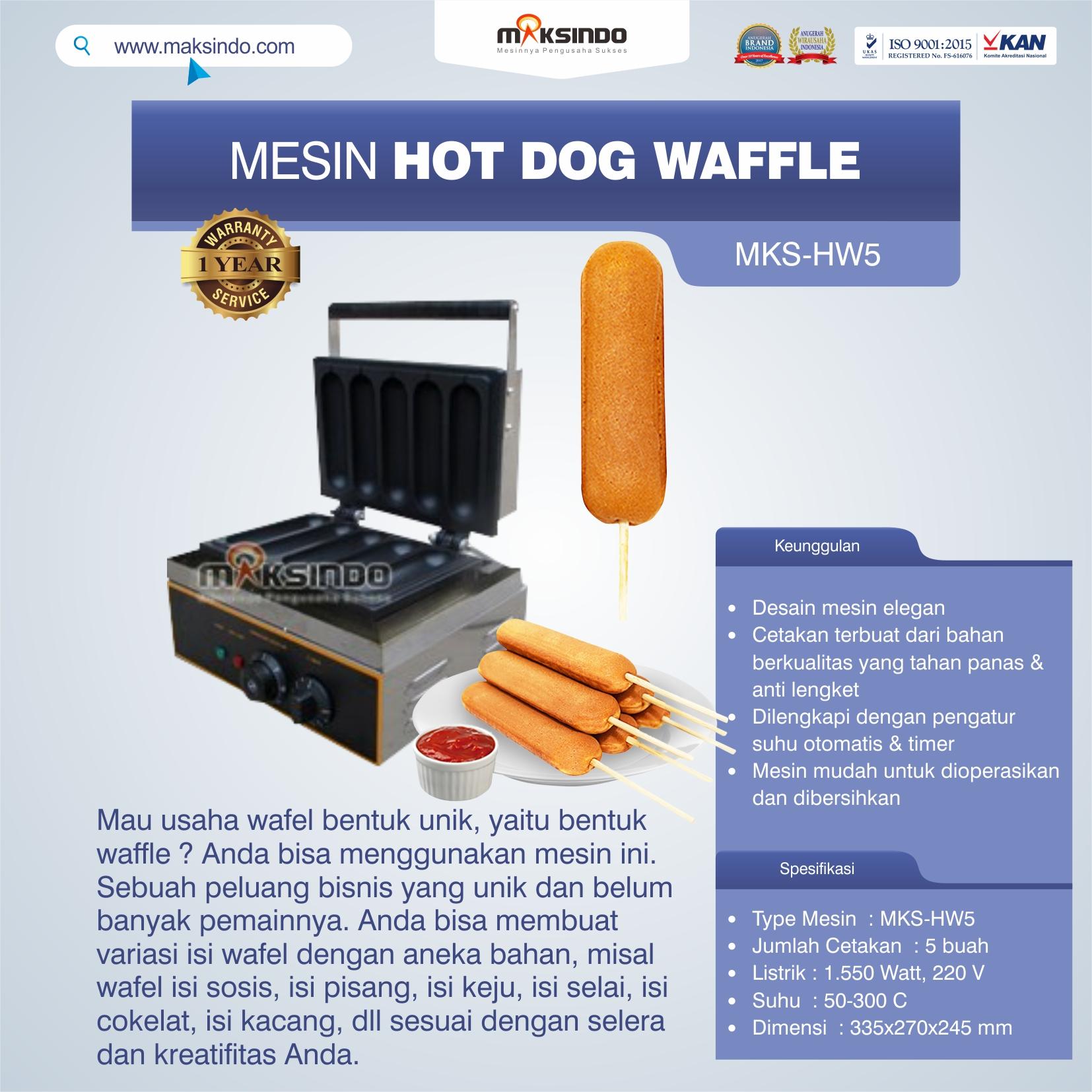 Mesin Hot Dog Waffle MKS-HW5