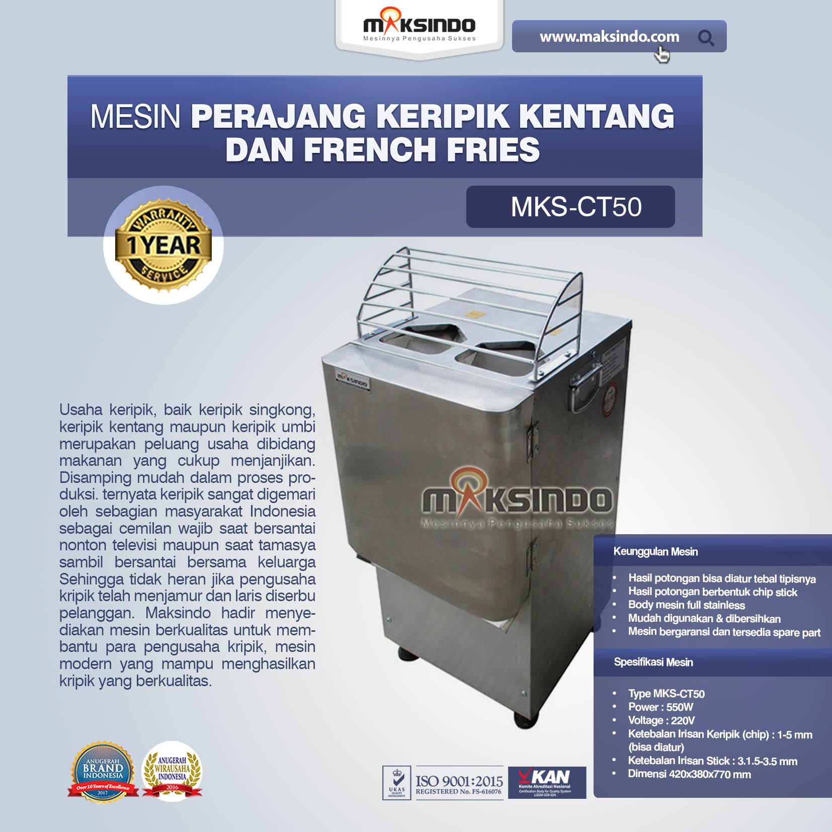 Mesin Perajang Keripik Kentang dan French Fries MKS-CT50