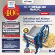 Cetak Mie Manual Untuk Usaha (MKS-150)