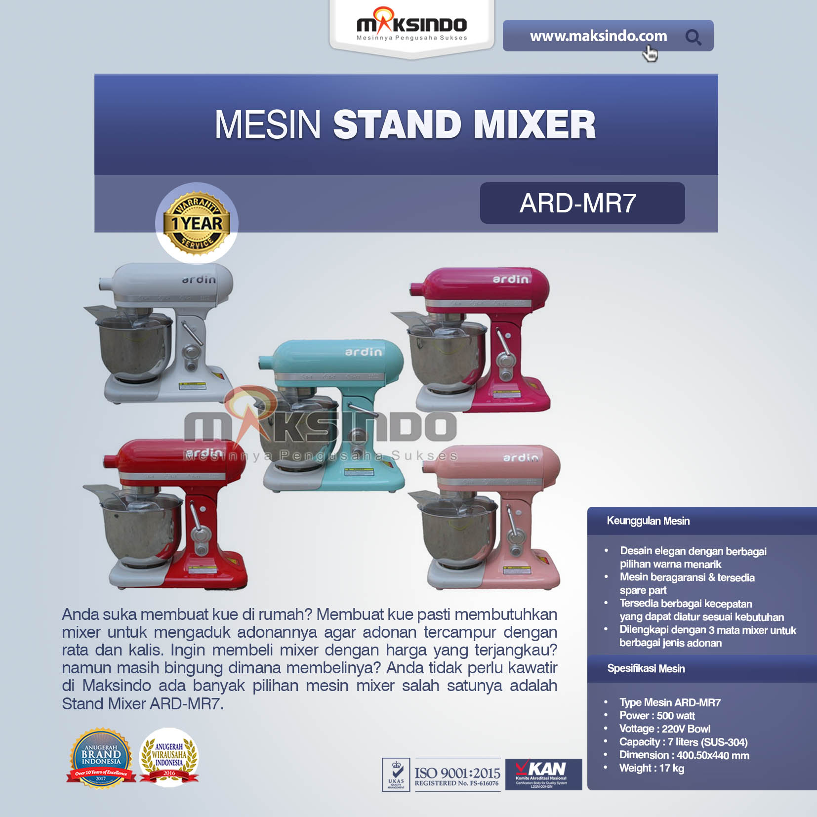 Stand Mixer ARD-MR7