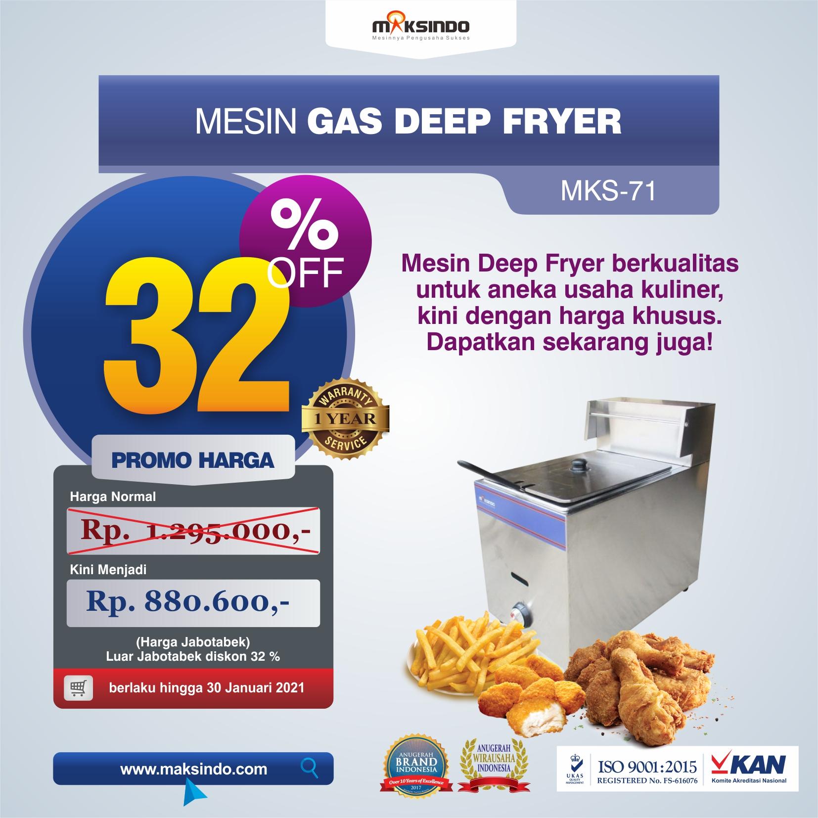 Mesin Gas Deep Fryer MKS-71