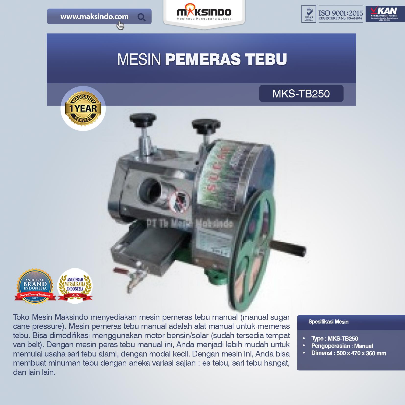 Mesin Pemeras Tebu (Giling Tebu)