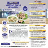 Training Cerdas Membuat Bakso Nusantara, Sabtu 14 Maret 2020