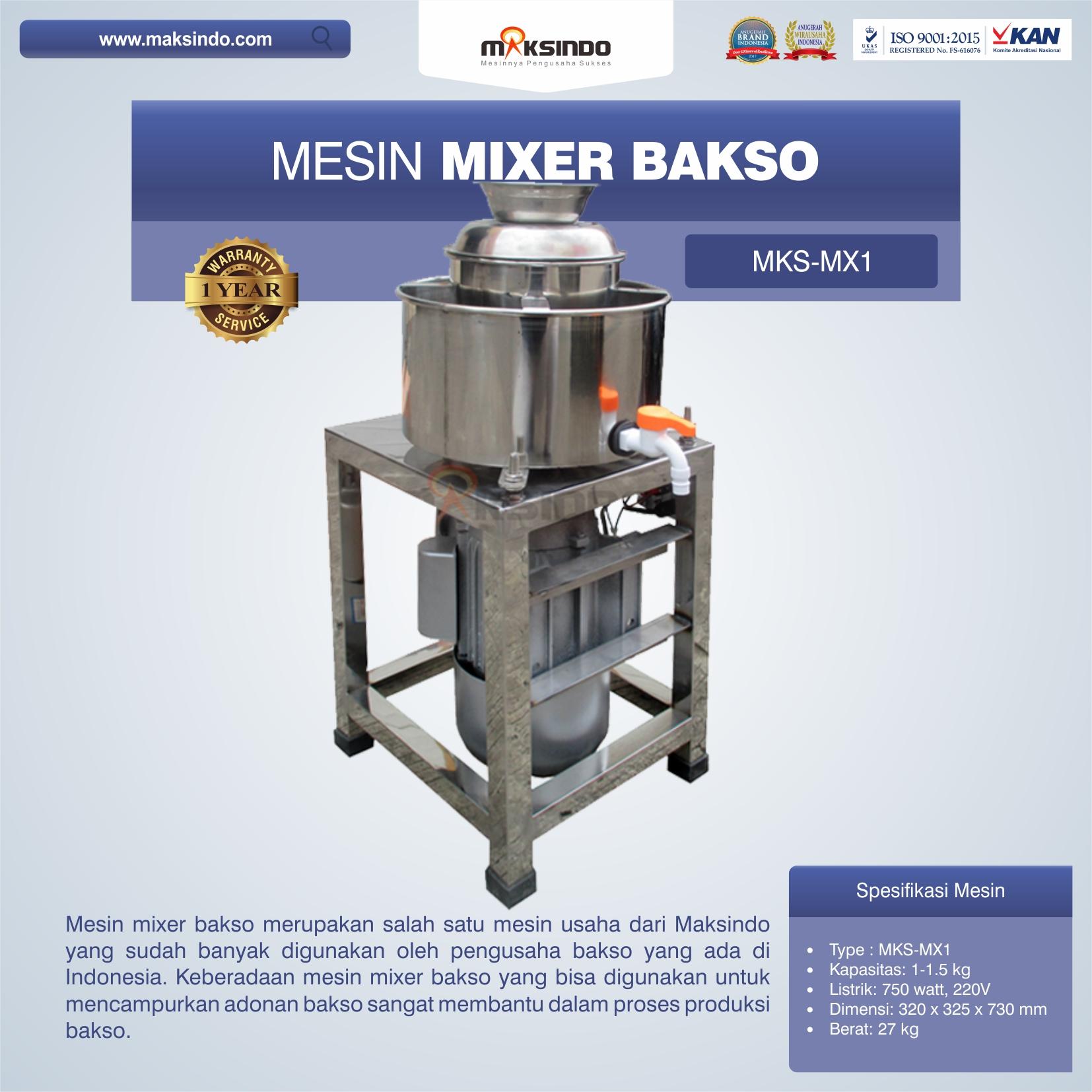 Mesin Mixer Bakso MKS-MX1