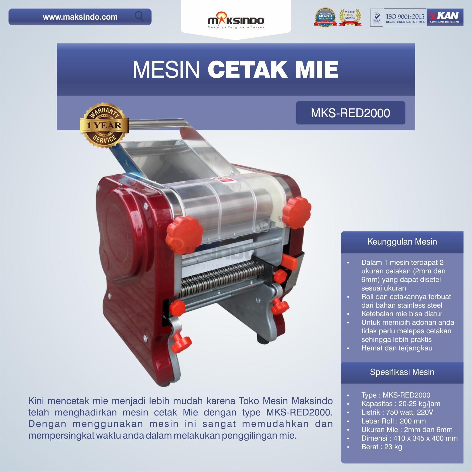 Mesin Cetak Mie MKS-RED2000