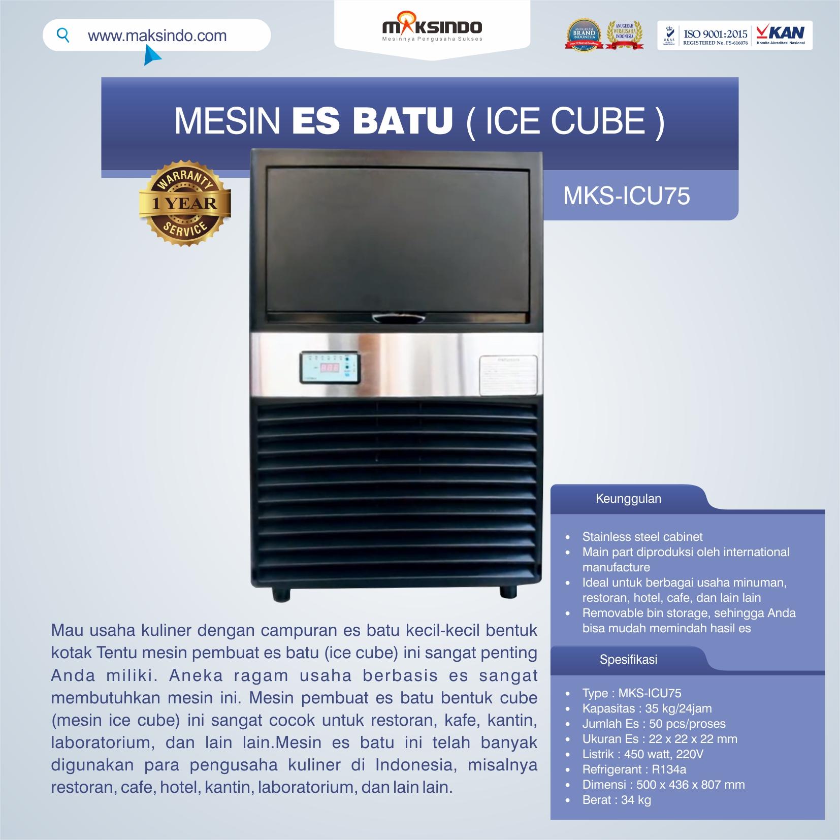 Mesin Es Batu Ice Cube (ICU-75)