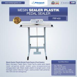 Mesin Sealer Plastik Pedal Sealer FRP-400