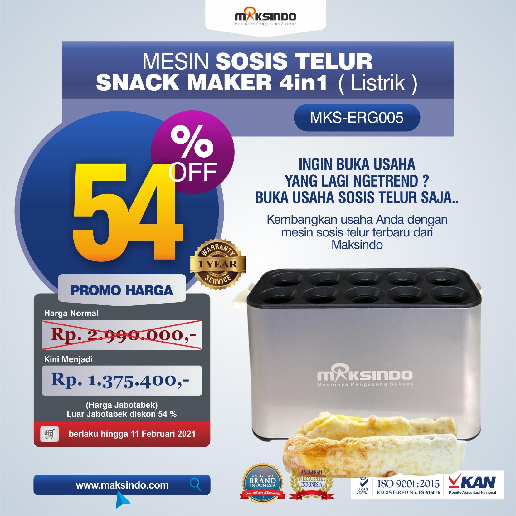 Mesin Egg Roll Sosis Telur Snack Maker 4in1 Listrik MKS-ERG005