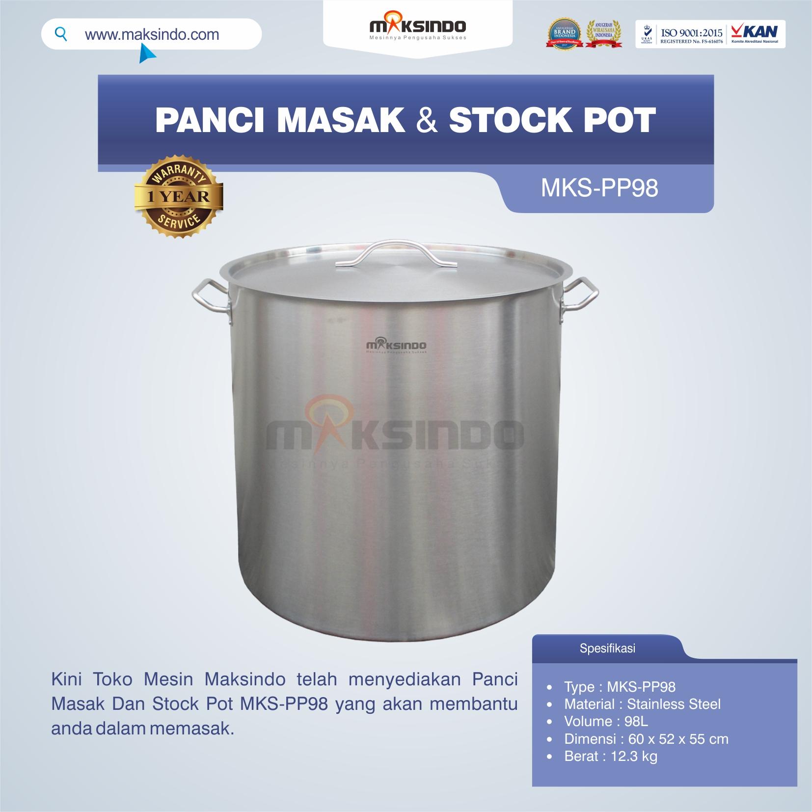 Panci Masak Dan Stock Pot MKS-PP98