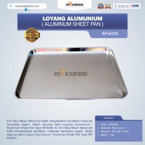 Loyang Alumunium / Aluminum Sheet Pan Type AP-6430