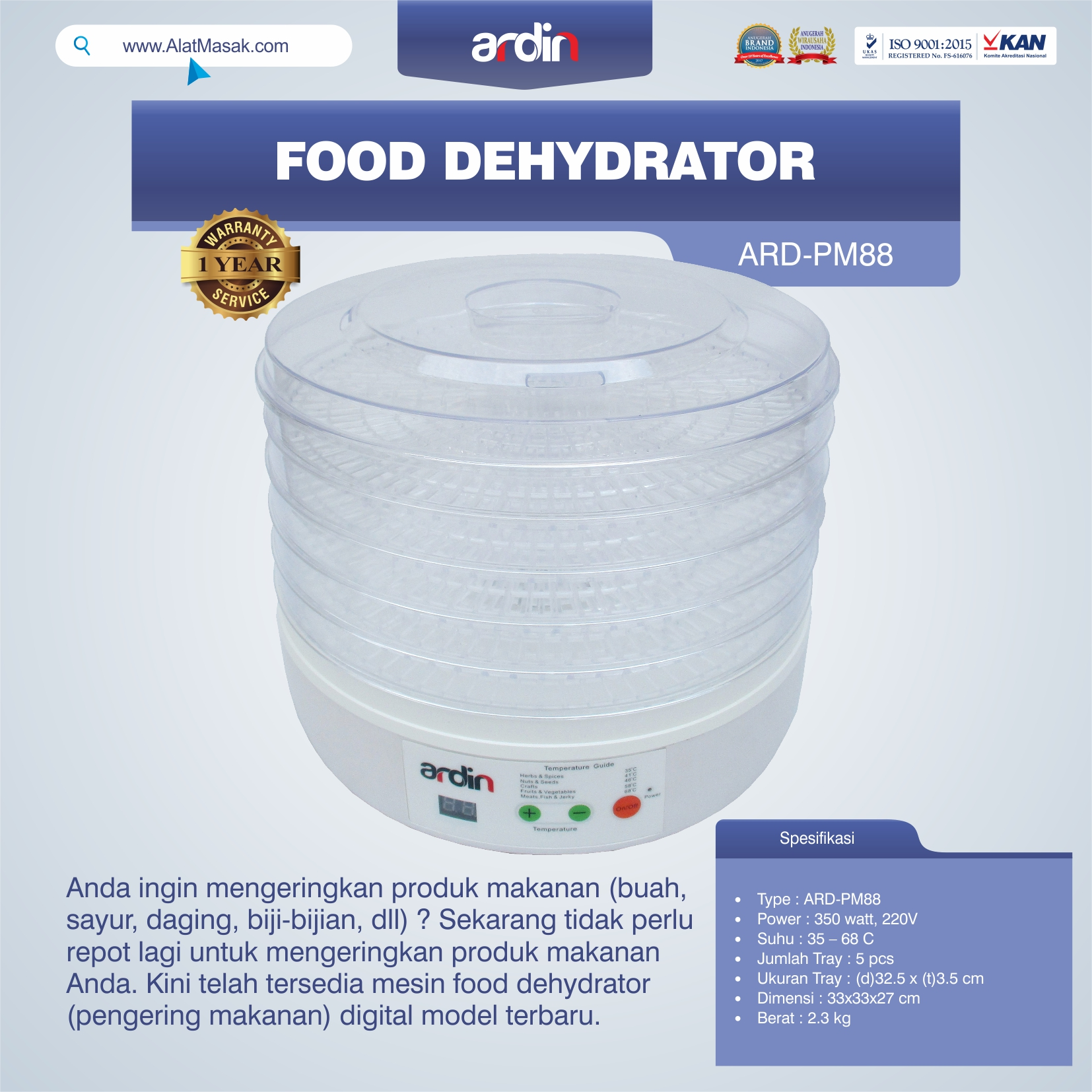 Food Dehydrator ARD-PM88
