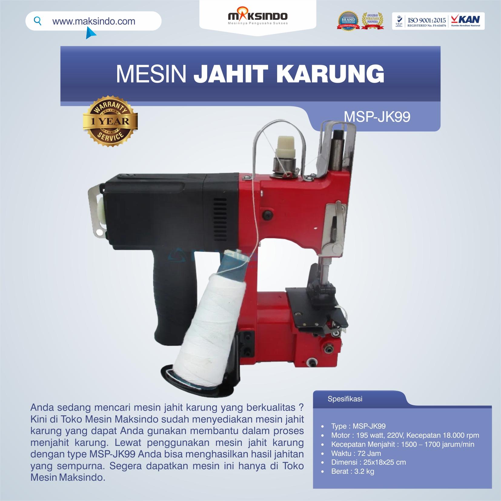 Mesin Jahit Karung MSP-JK99