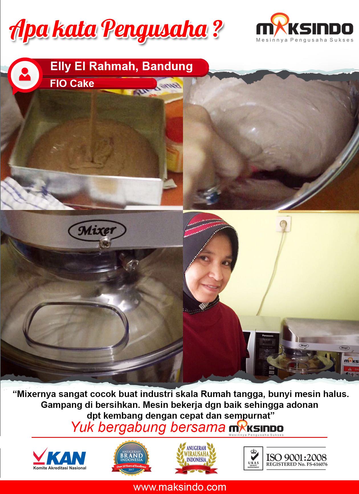 "FIO Cake : Mesin Mixer Maksindo"" Bunyi Halus"""
