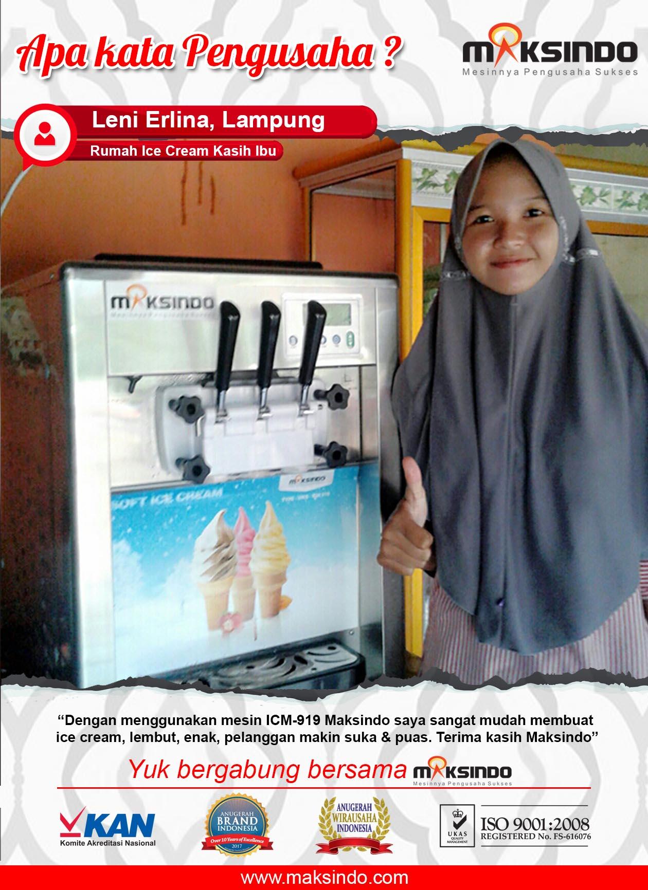 Rumah Ice Cream Kasih Ibu : Mesin ICM-919 Mudah Untuk Membuat Ice Cream