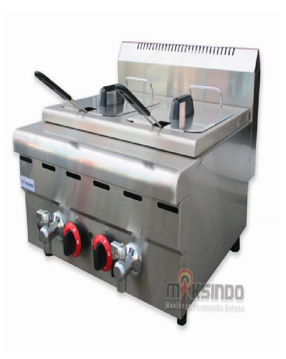 Counter Top 2-Tank 2-Basket Gas Fryer