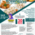Training Usaha Frozen Food, 3,4, dan 5 September 2018
