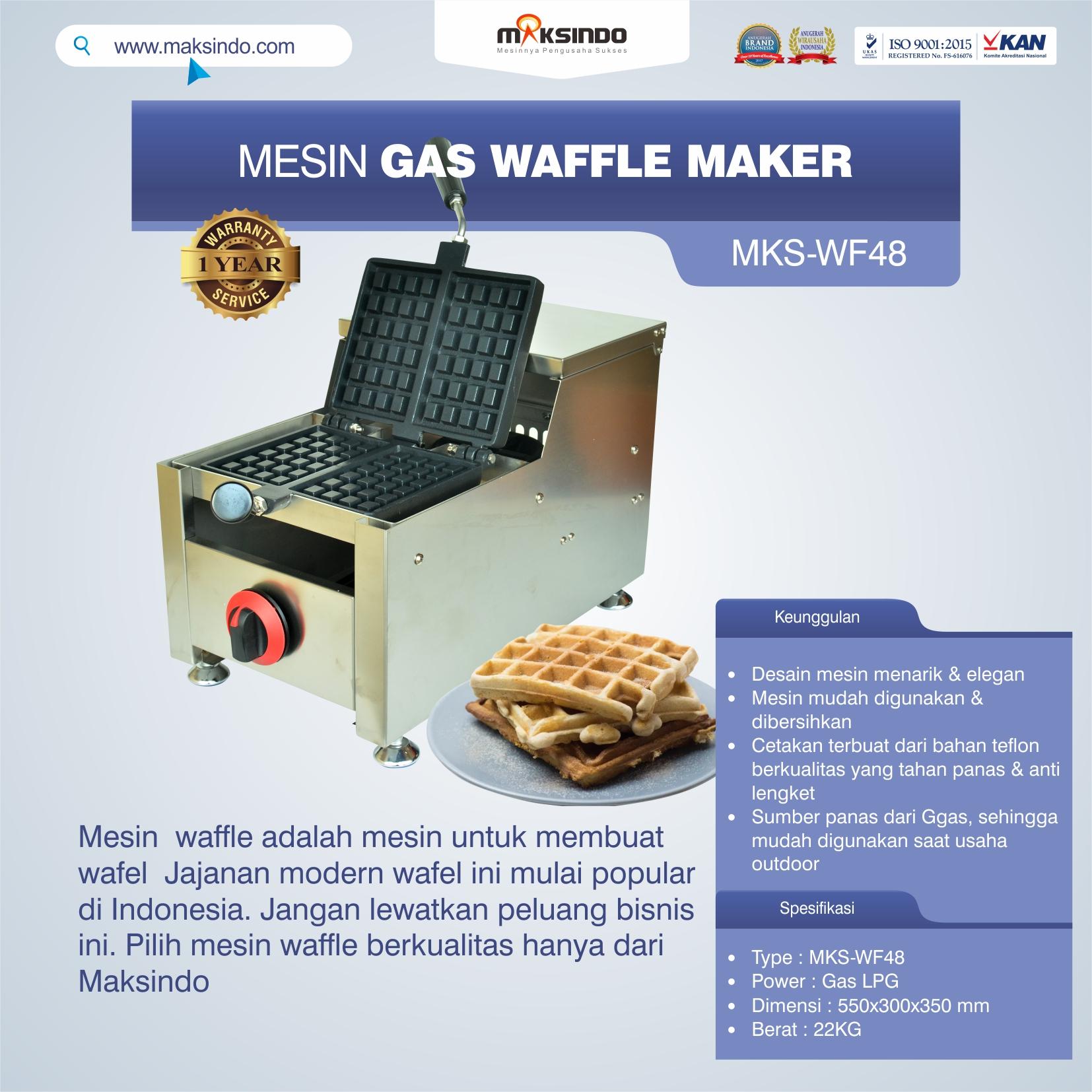 Mesin Gas Waffle Maker MKS-WF48